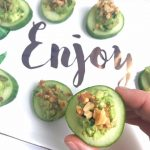 Easy Appetizer: Guacamole Cucumber Coins