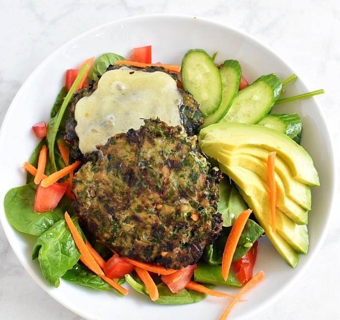 Mediterranean Chicken Burger Tasty Balance Nutrition Los Angeles